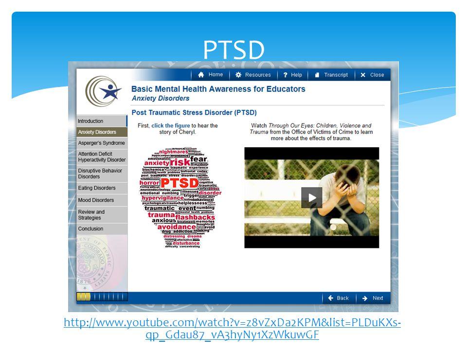 http://www.youtube.com/watch?v=z8vZxDa2KPM&list=PLDuKXs- qp_Gdau87_vA3hyNy1XzWkuwGF PTSD