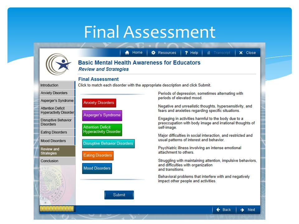 Final Assessment