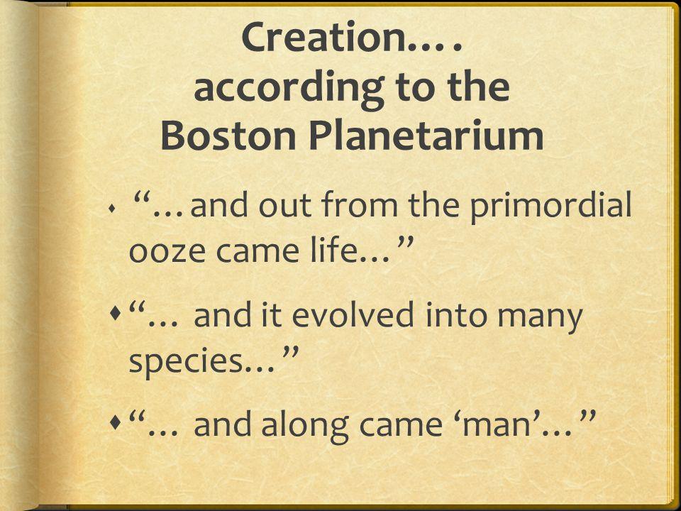 Creation….