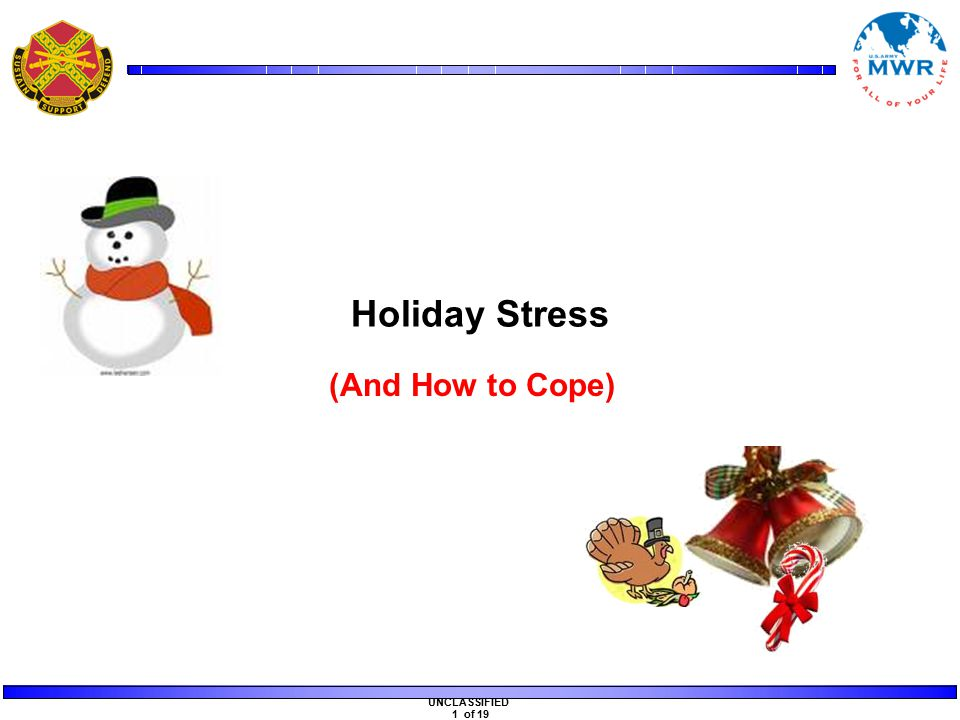 UNCLASSIFIED 1 of 19 Holiday Stress (And How to Cope)