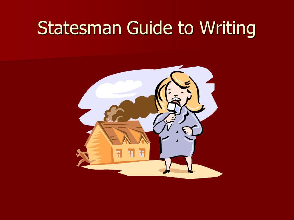 Statesman Guide to Writing