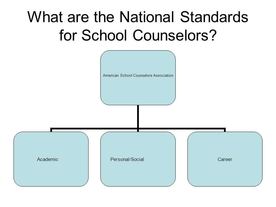 What are the National Standards for School Counselors.