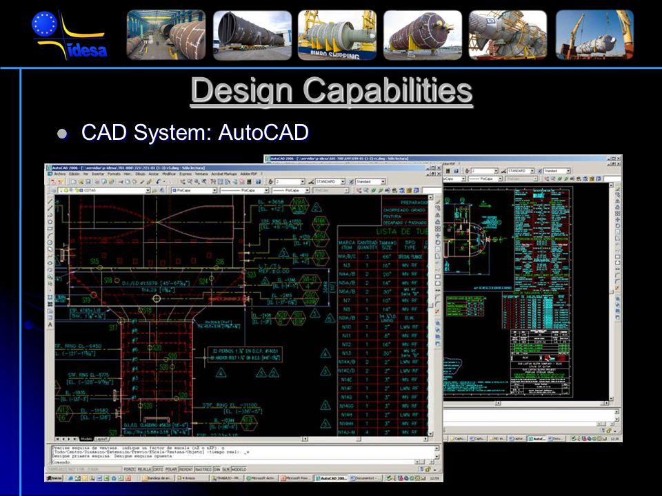 Design Codes ASME VIII Div.1 ASME VIII Div.2 TEMA TEMA PD5500 PD5500 API 650 API 650 AD-MERKBL Ä TT CODAP CODAP GOST GOST …