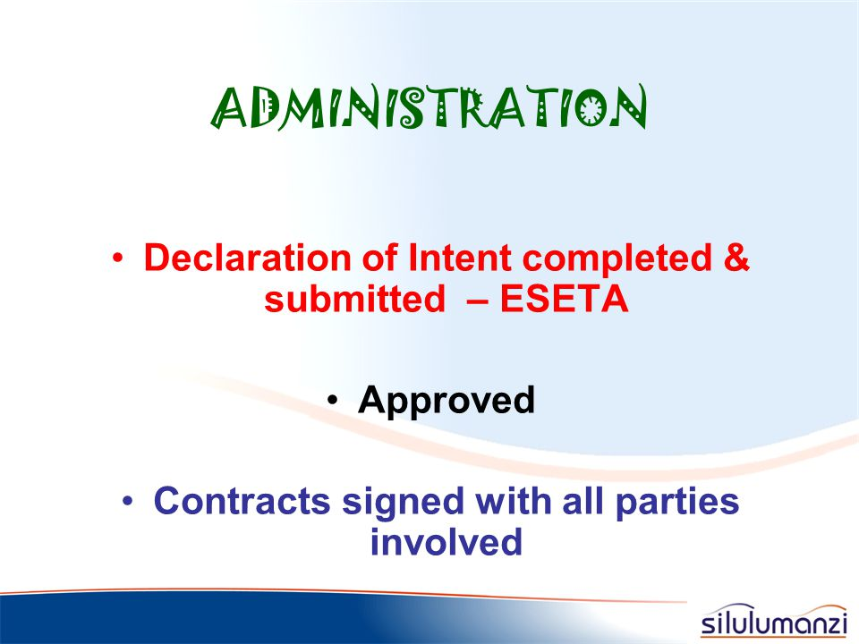 MANAGEMENT APPROVED! Cost implications!!!! Learnership ESETA contacted who directed us accordingly
