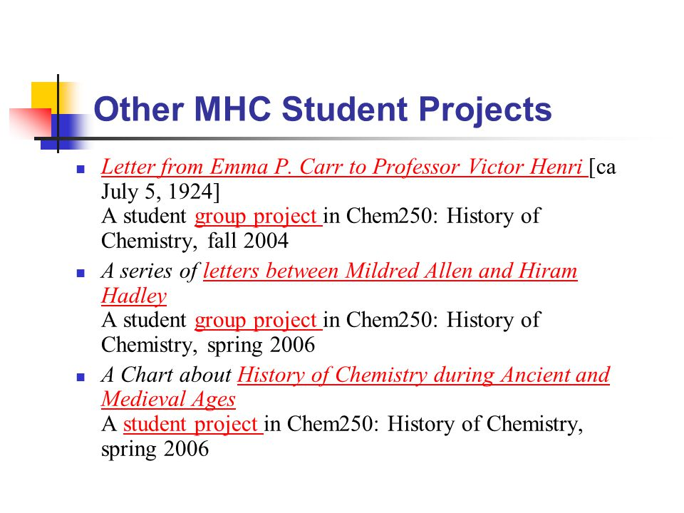 Other MHC Student Projects Letter from Emma P.