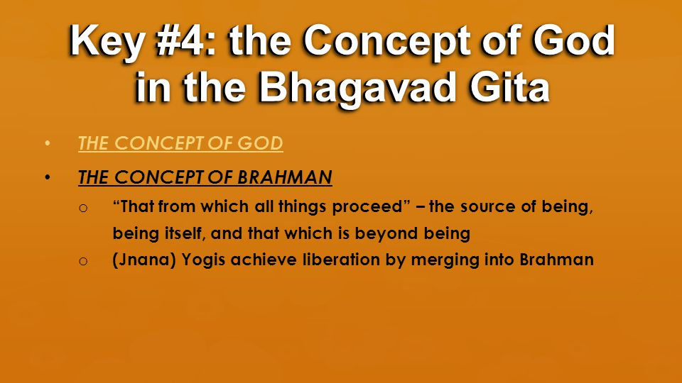 """THE CONCEPT OF GOD THE CONCEPT OF BRAHMAN o """"That from which all things proceed"""" – the source of being, being itself, and that which is beyond being o"""