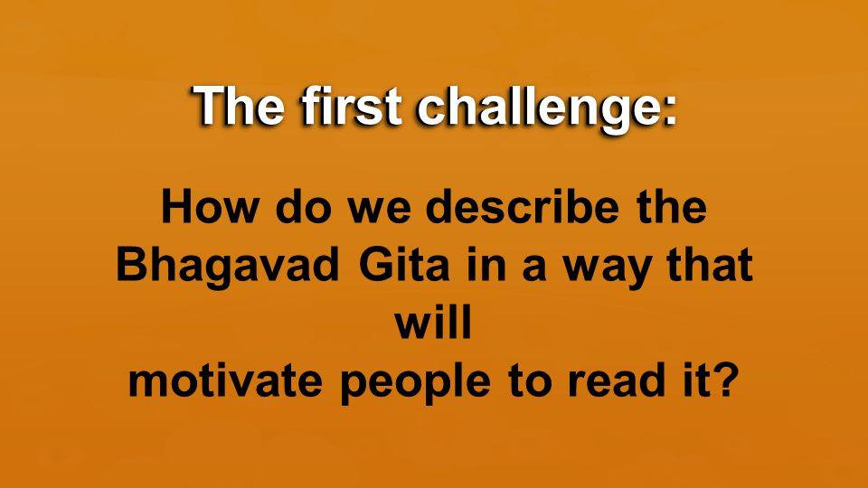 Key #2: The Structure of the Bhagavad Gita