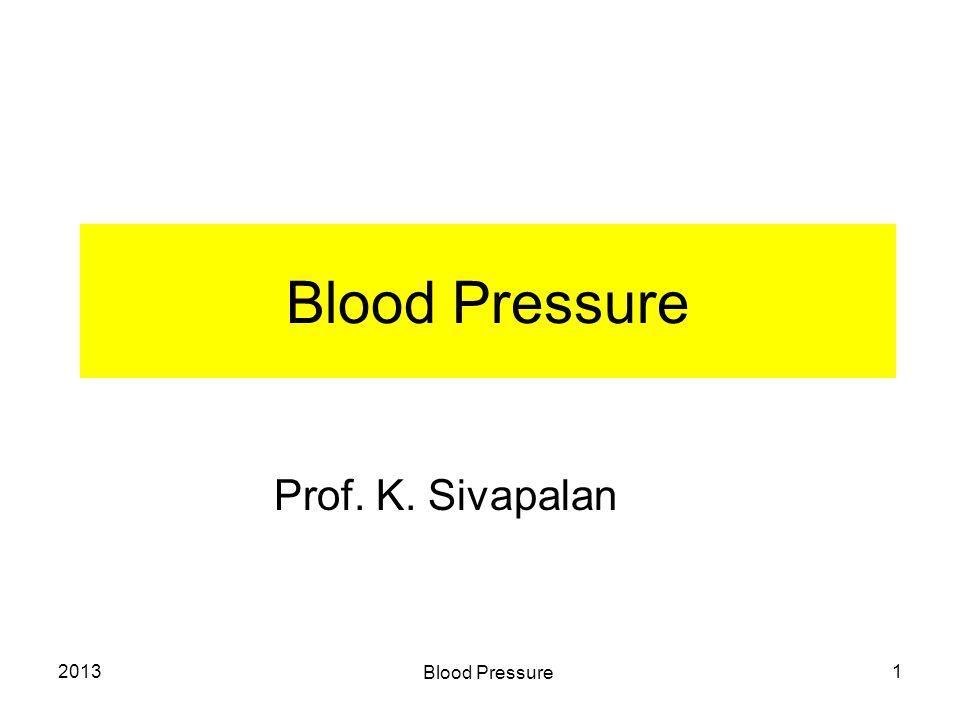 2013 Blood Pressure 1 Prof. K. Sivapalan