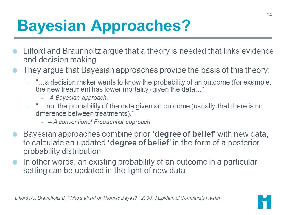 Bayesian Approaches.