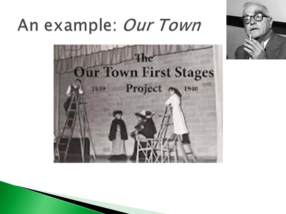  Our Town is a three-act play by American playwright Thornton Wilder.