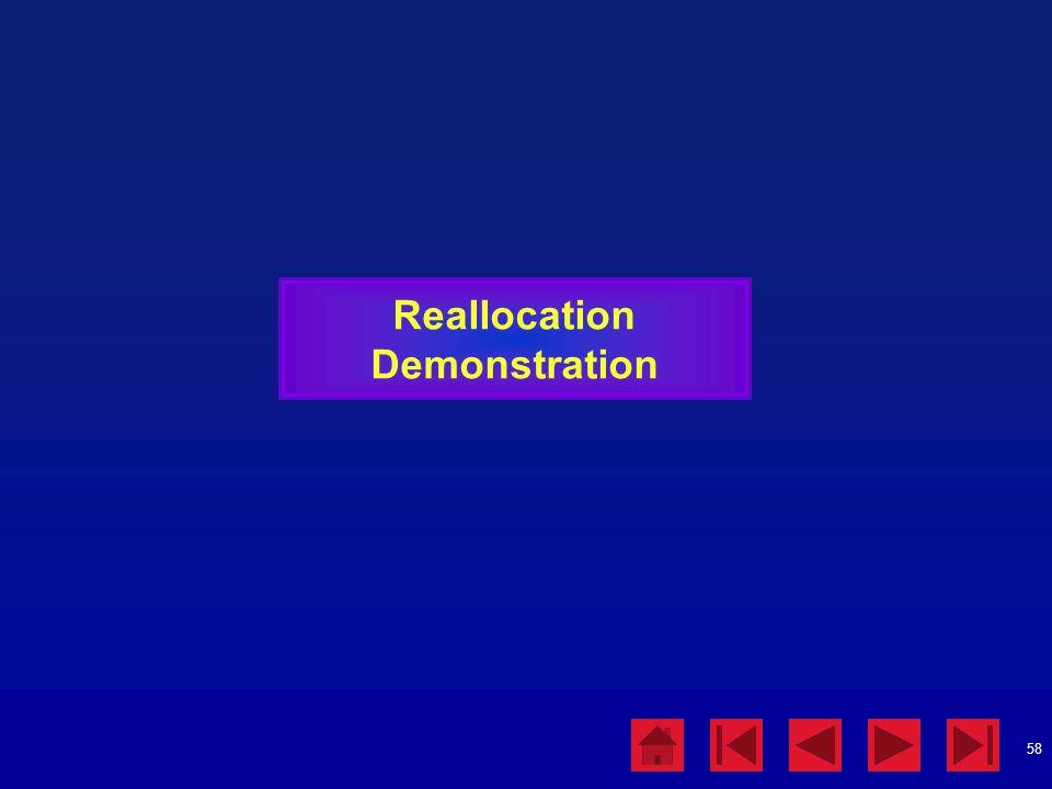 58 Reallocation Demonstration