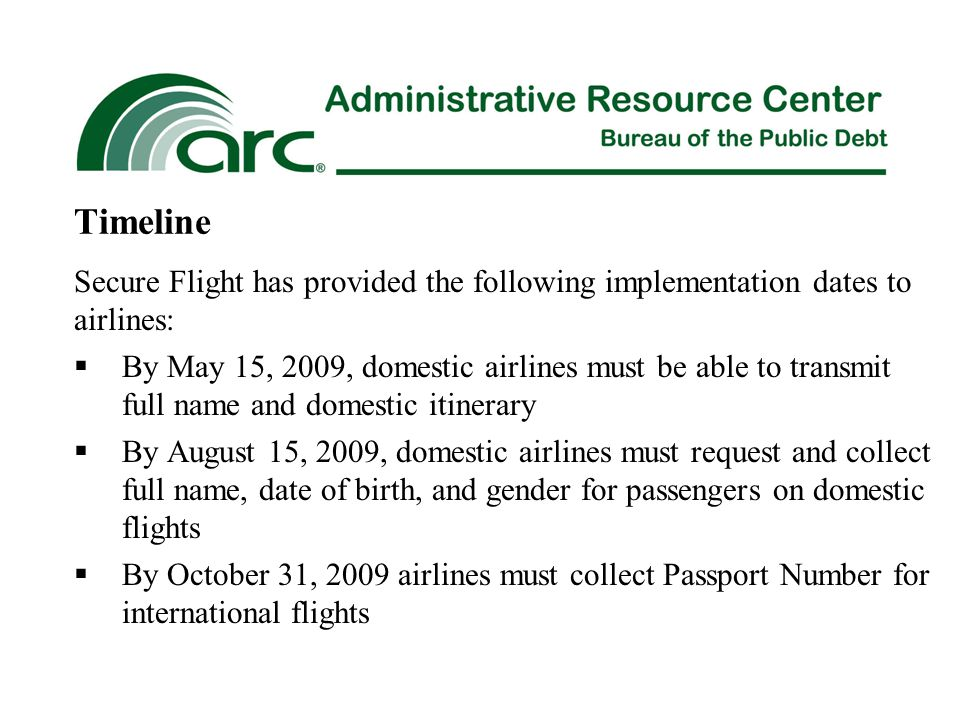 ARC Travel Services will reset passwords when the traveler is unable to do so on their own.