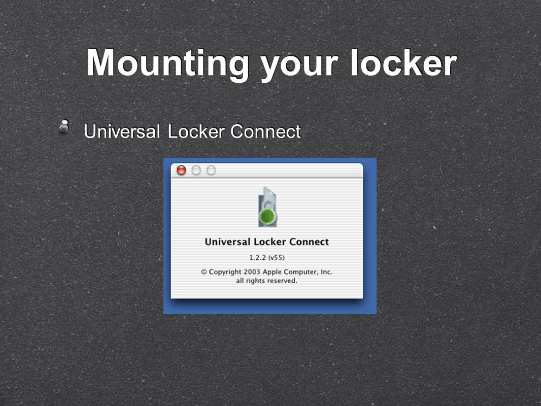 Universal Locker Connect Mounting your locker