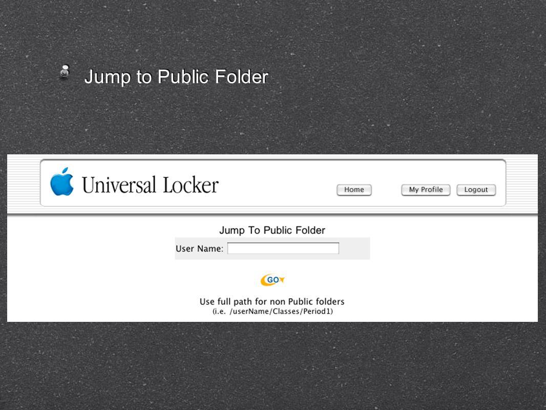 Jump to Public Folder