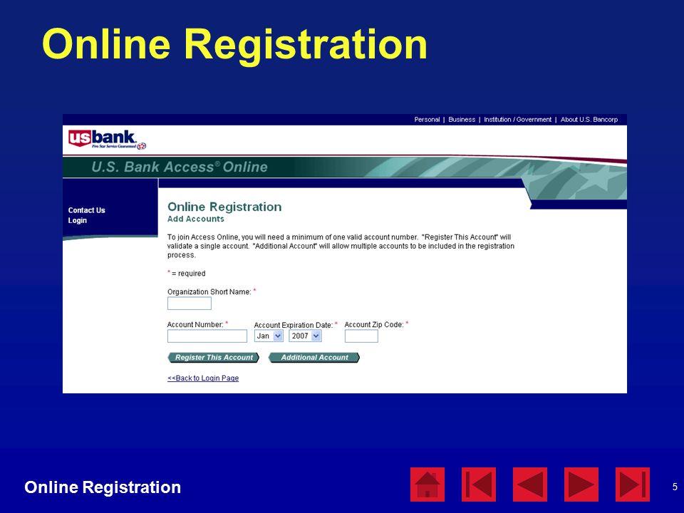 5 Online Registration