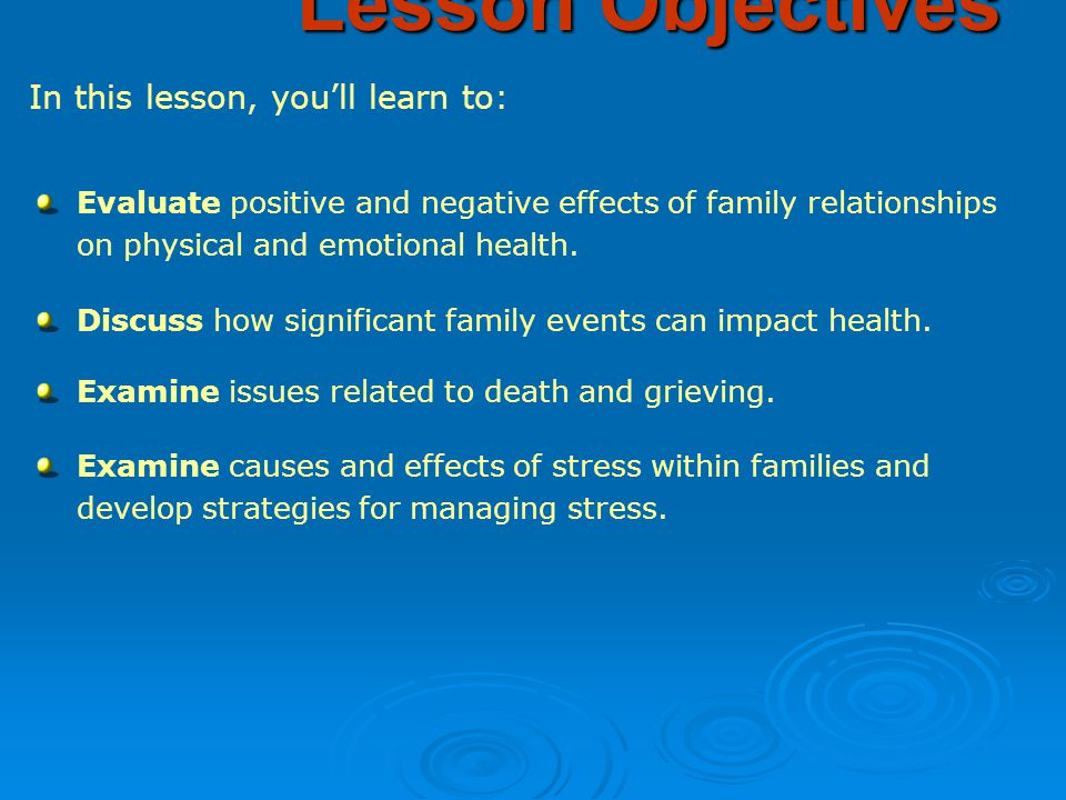 positive and negative effect of family