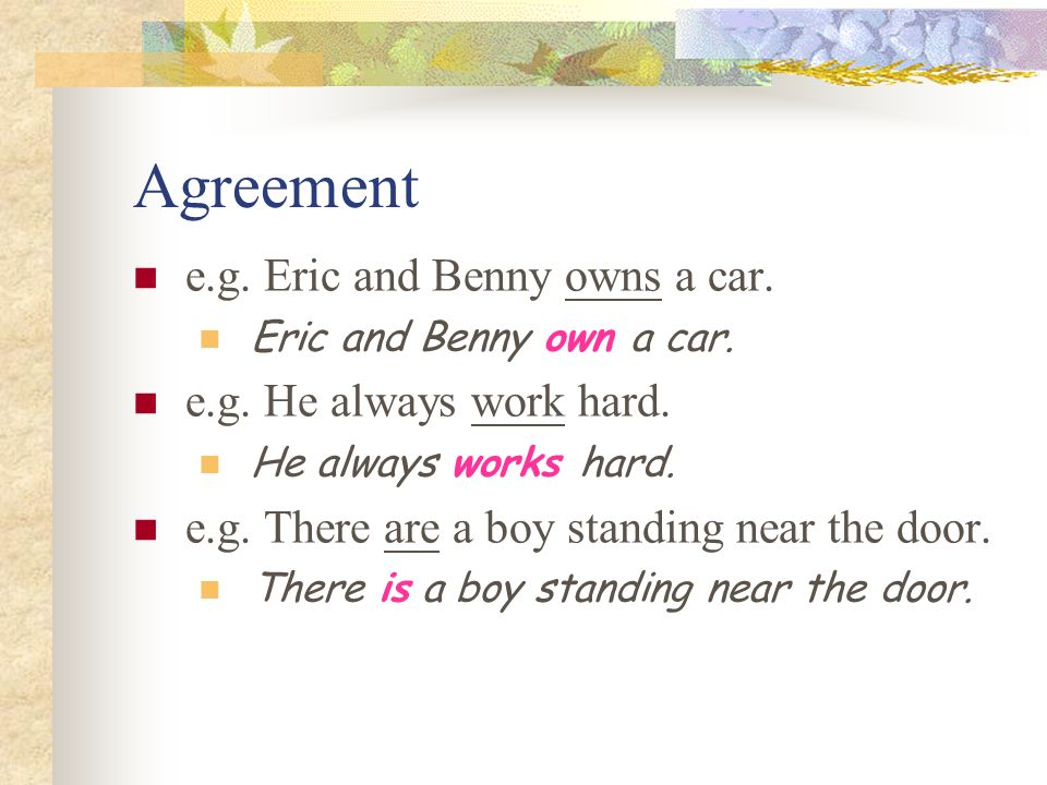 Pronouns It is my book.The possessive adjective is used before a noun.