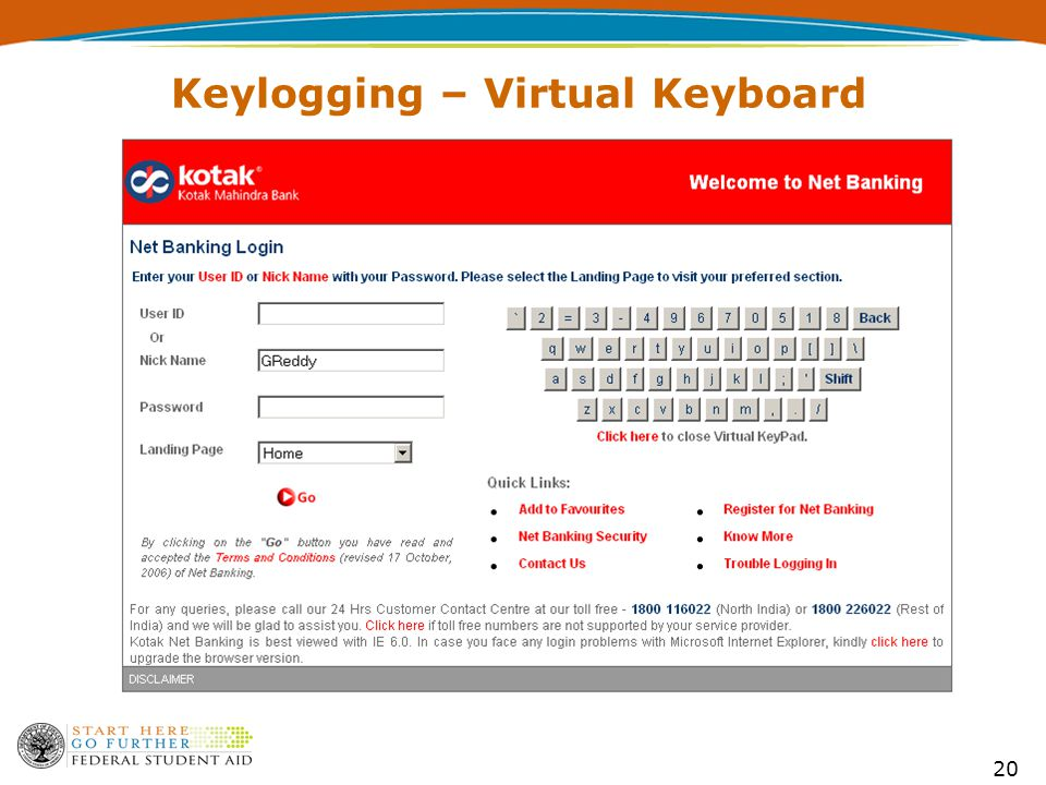 20 Keylogging – Virtual Keyboard