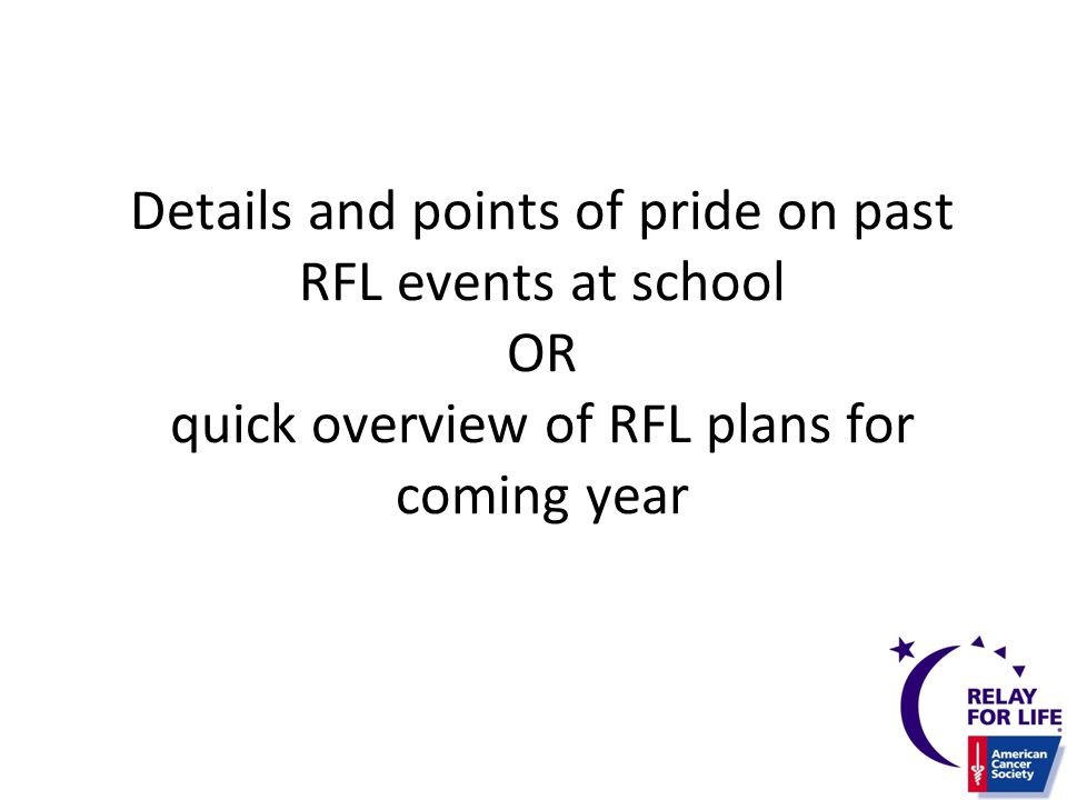 Details and points of pride on past RFL events at school OR quick overview of RFL plans for coming year