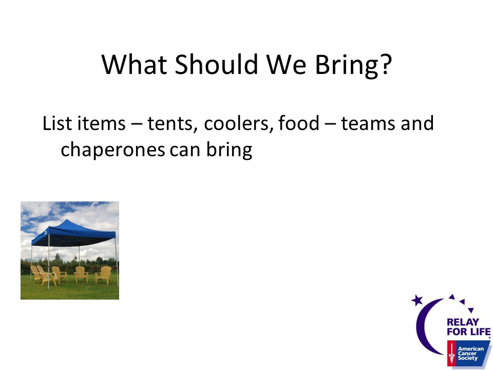 What Should We bring.Check the weather and be prepared with sun screen or an umbrella.