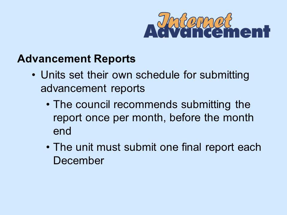 Print Advancement Report