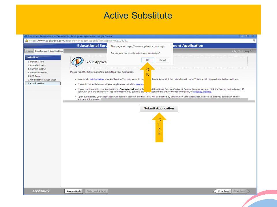 20 Active Substitute OKOK ClckClck