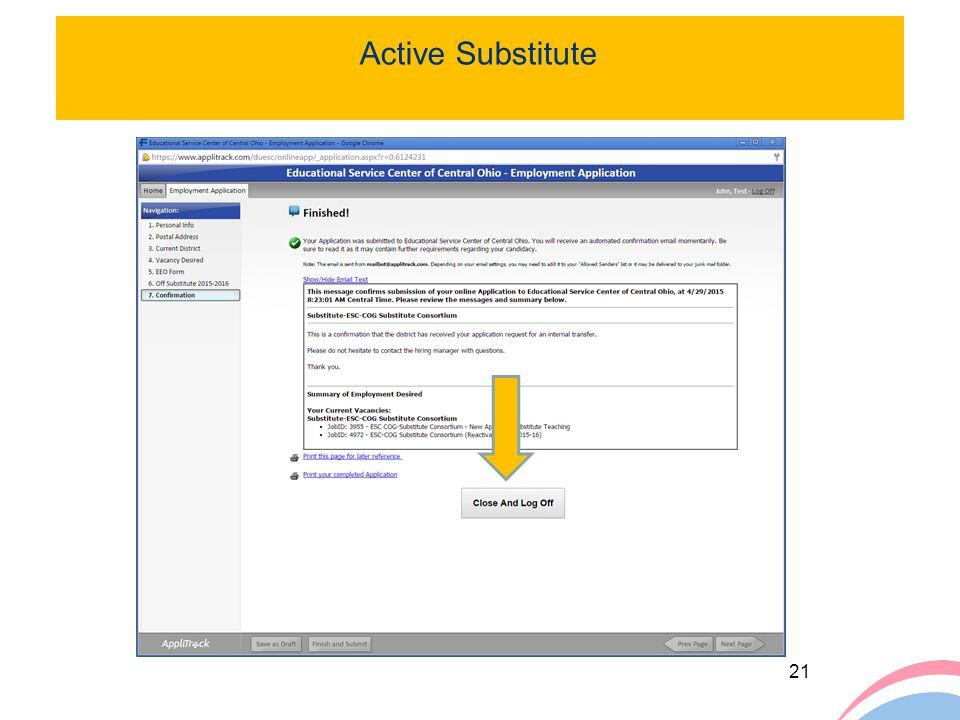 21 Active Substitute ClckClck