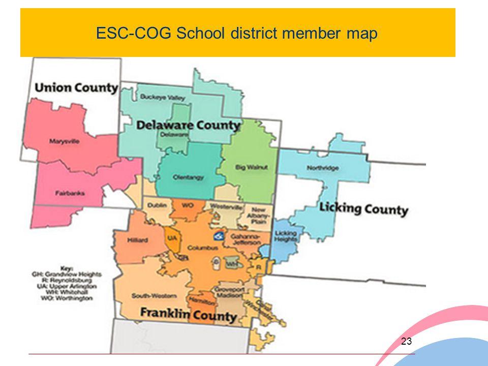 ESC-COG School district member map 23