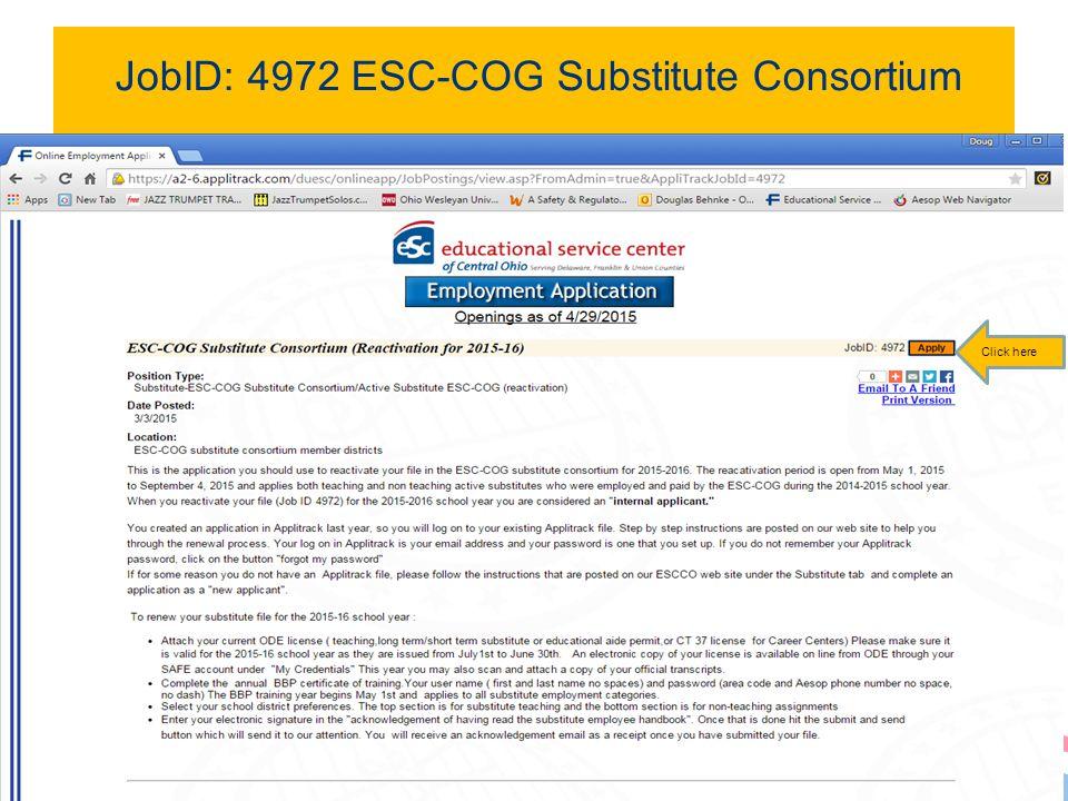 JobID: 4972 ESC-COG Substitute Consortium 4 Click here