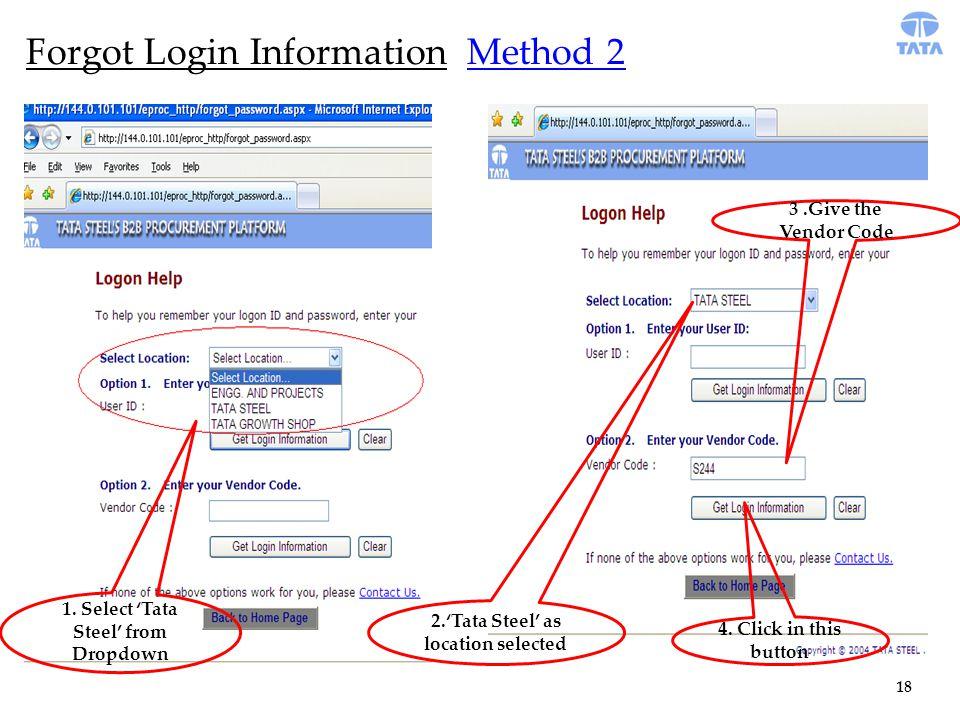 18 Forgot Login Information Method 2 1.