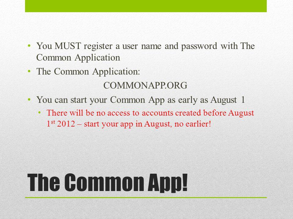 The Common App.