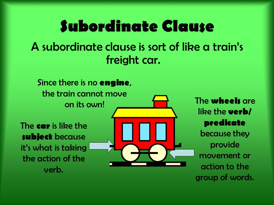 Independent or Subordinate.