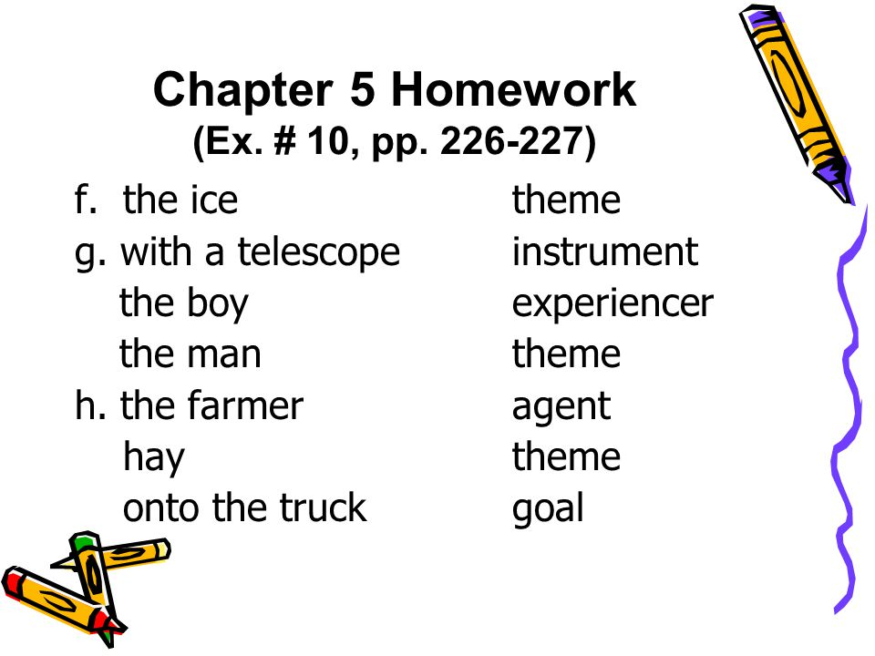 f. the icetheme g. with a telescopeinstrument the boyexperiencer the mantheme h.