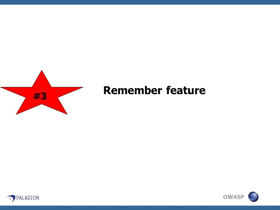 OWASP Remember feature #3