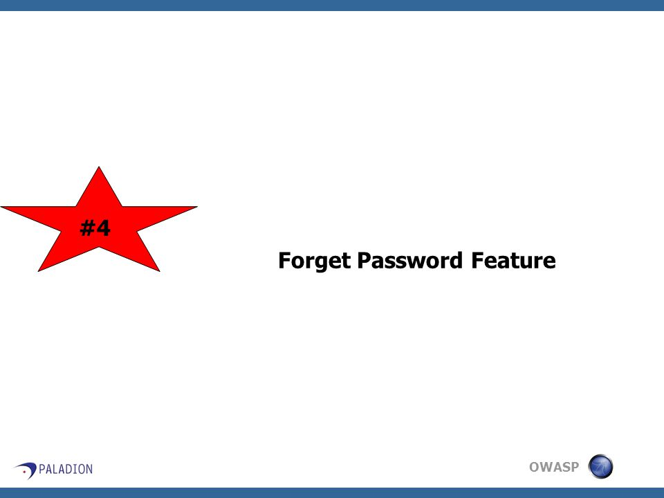 OWASP Forget Password Feature #4