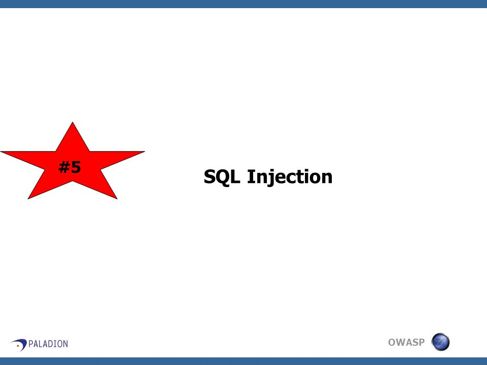 OWASP SQL Injection #5