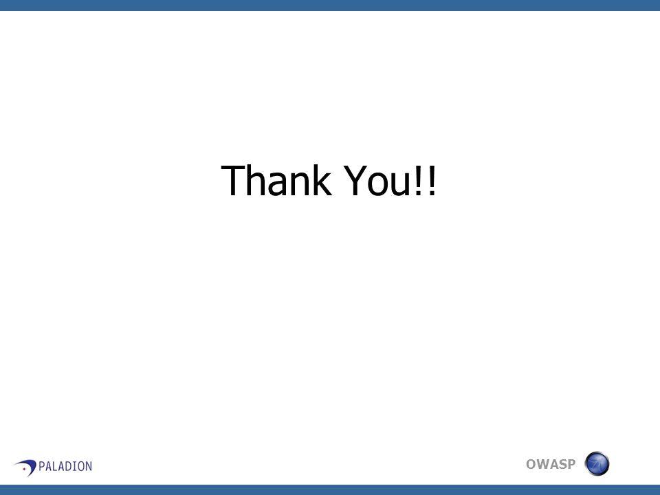 OWASP Thank You!!