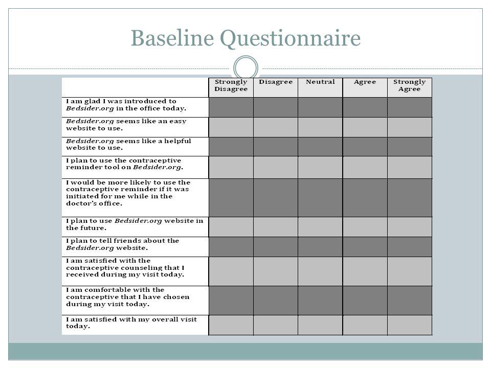 Baseline Questionnaire