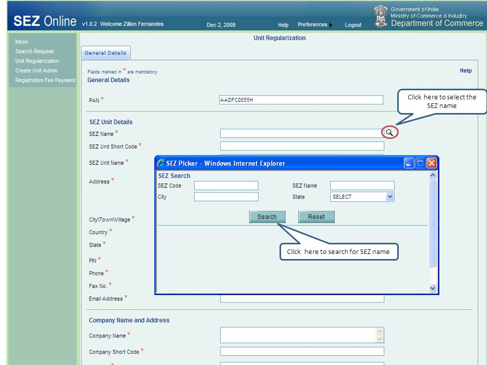 Step 7 Creation of Unit operational user