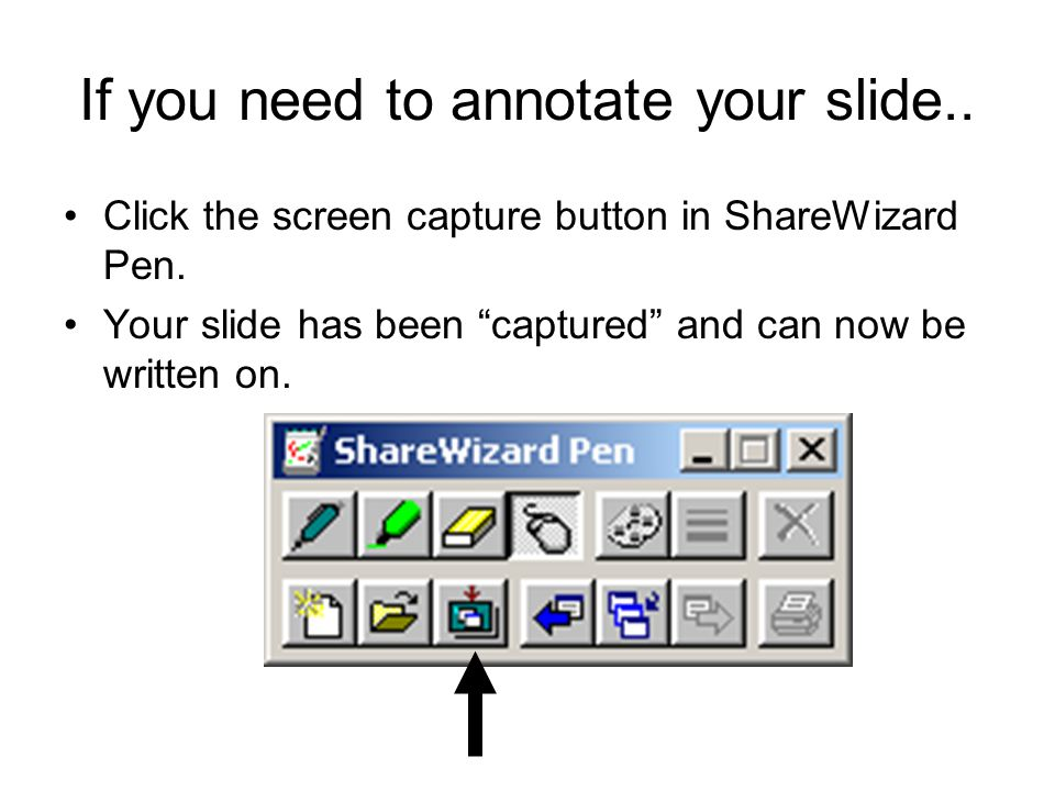 Exit annotation mode Click the mouse icon. You are released to PowerPoint.