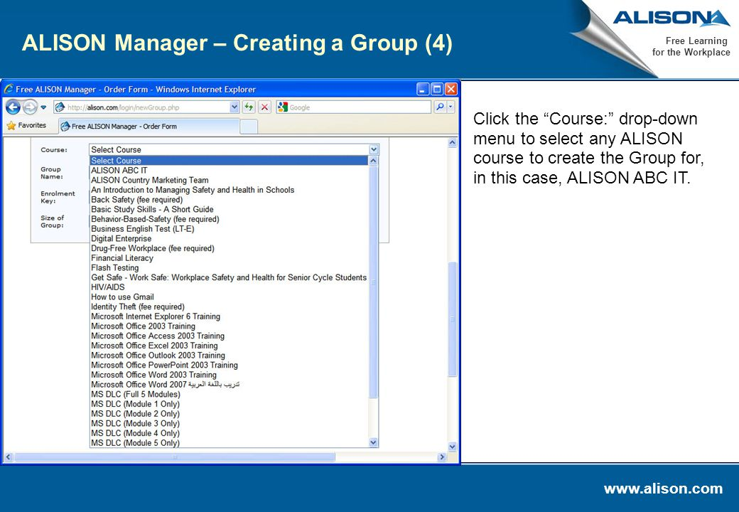 alison typing course