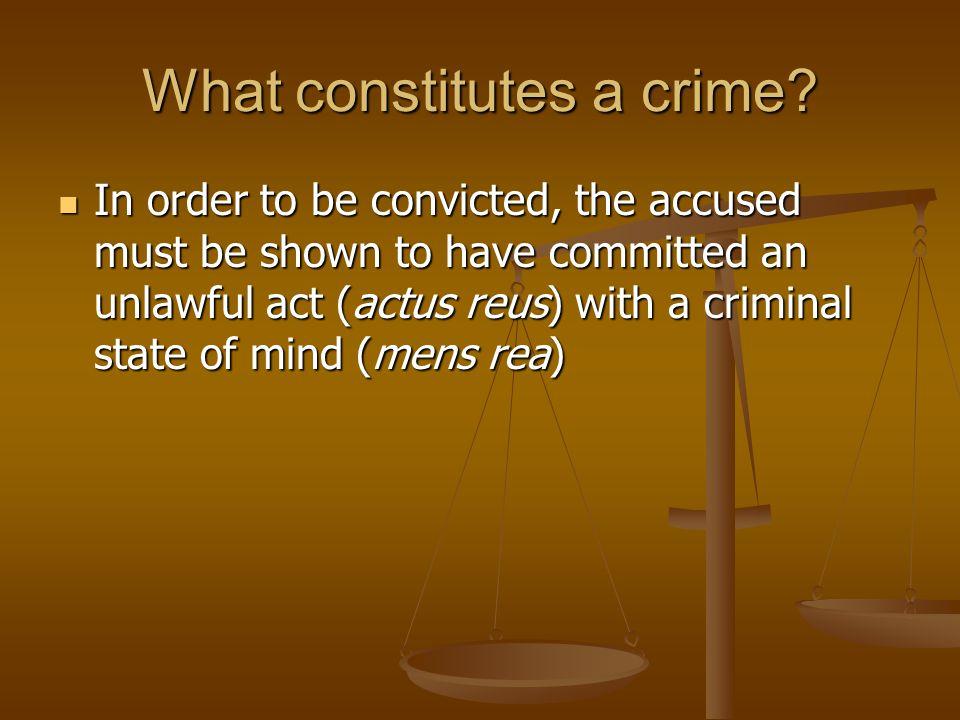 What constitutes a crime.