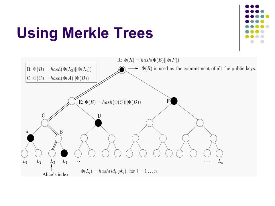 Using Merkle Trees