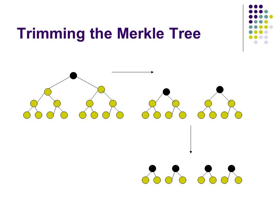 Trimming the Merkle Tree