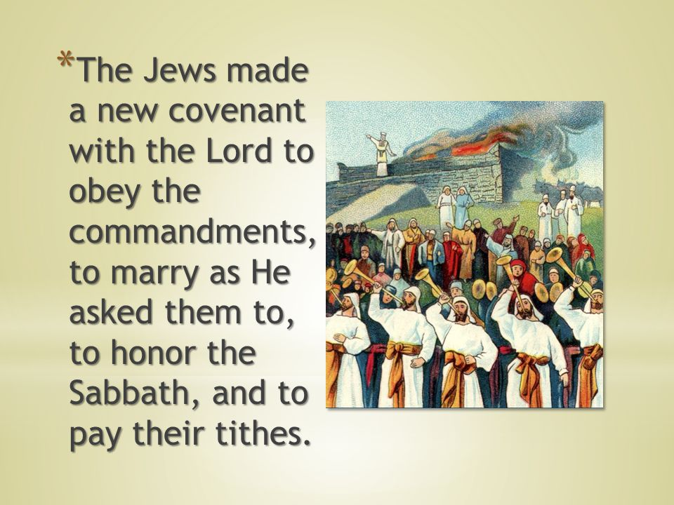 * After * After they had arrived in Jerusalem, Ezra taught the law of Moses to the people.