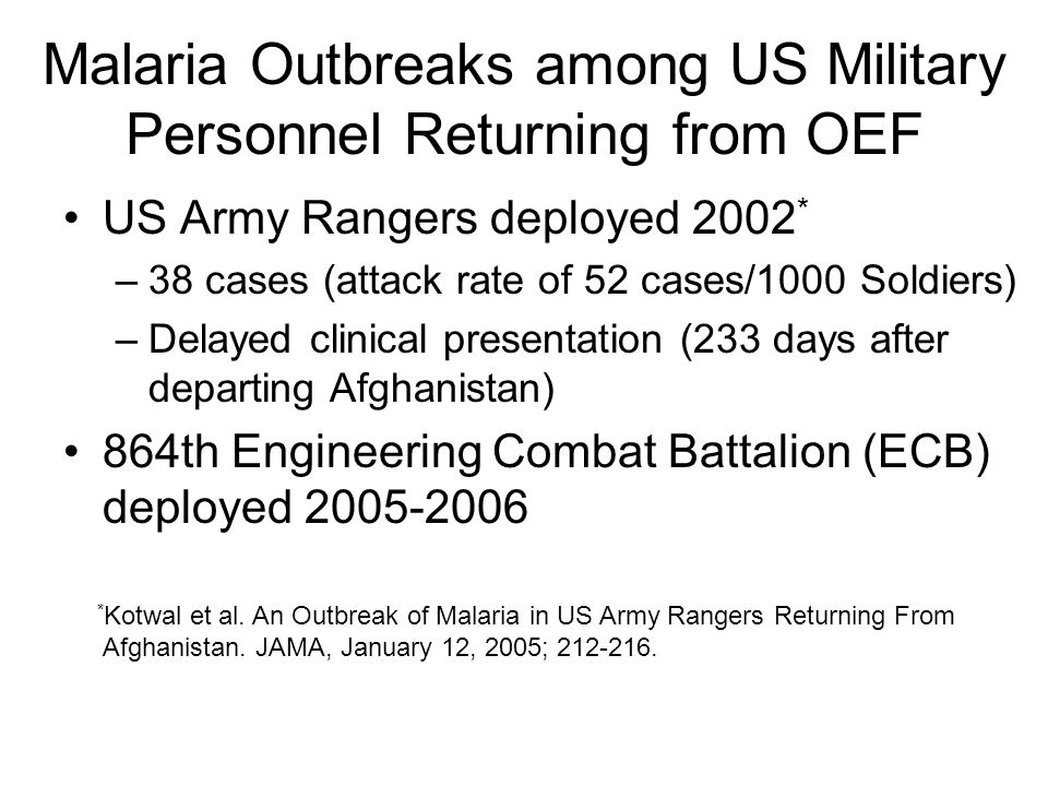 Limitations Non-anonymous survey Recall bias Case ascertainment limited for Soldiers who separated from the Army Outbreak notification limited to letters sent to last known postal address (not by Certified Mail)