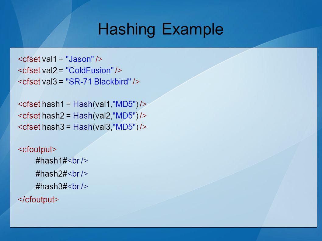Hashing Example #hash1# #hash2# #hash3#