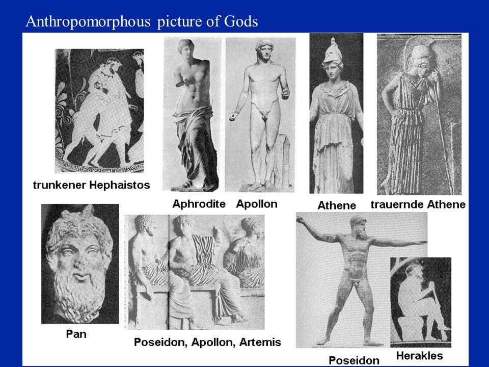 Anthropomorphous picture of Gods
