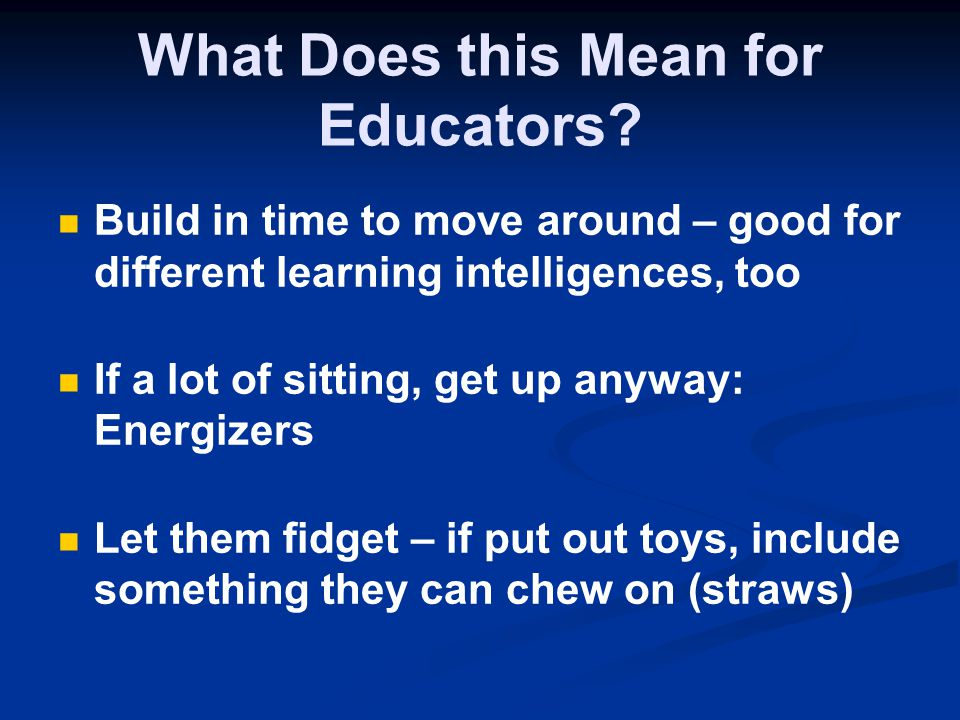 What Does this Mean for Educators.