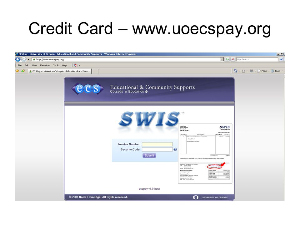 Credit Card – www.uoecspay.org